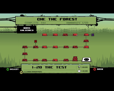 World 1 of Super Meat Boy