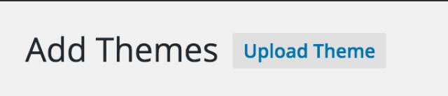 Themes: Upload Theme