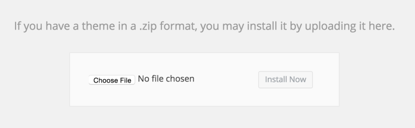 Theme: Choose File