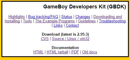 GBDK Homepage