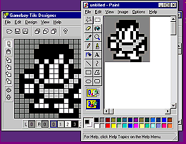 Demonstration of the ability to copy-and-paste pixels