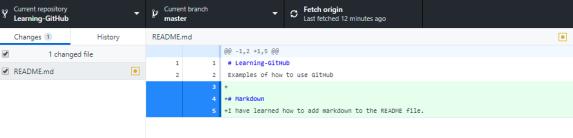 GitHub Desktop - Markdown Usage